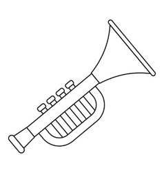 Trumpet toy for kids icon outline style vector