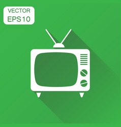 tv icon business concept television pictogram on vector image