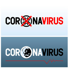 Two banners with inscription coronavirus and vector