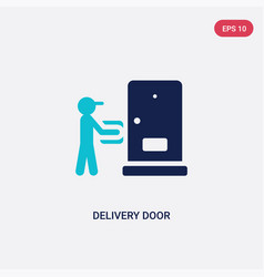 two color delivery door icon from delivery and vector image