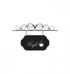 vintage coffee sign vector image vector image
