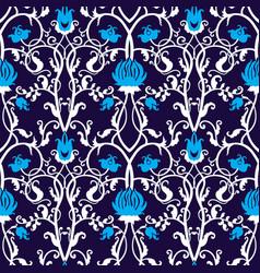 Vintage seamless flower pattern vector