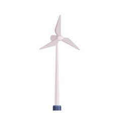 Wind turbine alternative energy resource cartoon vector