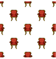 Wing-back chair icon in cartoon style isolated on vector