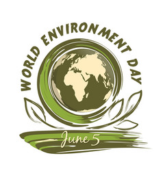 world environment day design 5 june vector image