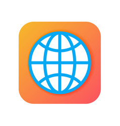 worldwide globe browser icons modern icon in flat vector image