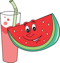 Wtermelon and Drink vector