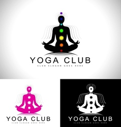 Yoga Logo Design Creative vector image
