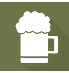 Glass of beer web icon vector image vector image