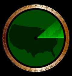 usa radar vector image