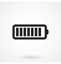 Battery icon black on white background vector