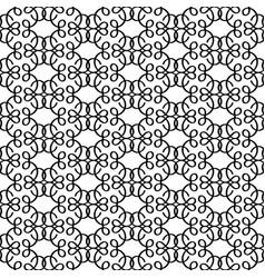 black linear decorative pattern vector image