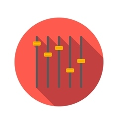Equalizer flat icon vector image