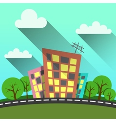 flat style modern city vector image vector image