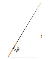 Rod spinning for fishing 02 vector