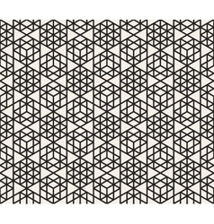 Seamless black and white triangle grid vector