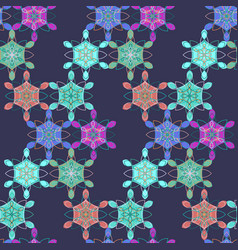 dark abstract lace floral pattern vector image vector image