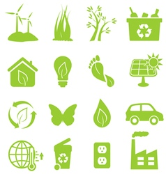 Eco and environment icon set vector image