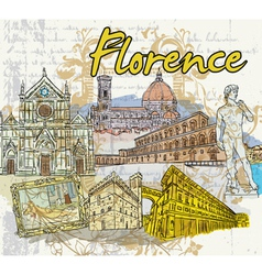 florence doodles vector image vector image