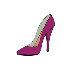 Red womens high heels vector image vector image