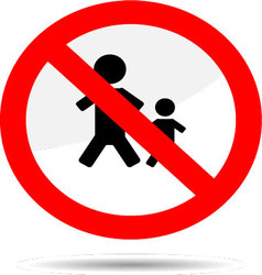 Sign no people vector image