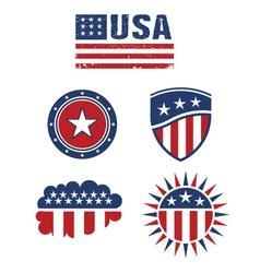 USA star flag design elements logo vector image vector image