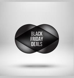 black friday deals bubble badge vector image