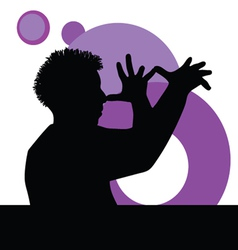 funny man with hand vector image vector image
