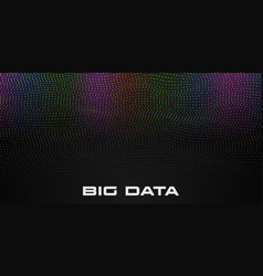 abstract big data visualization wave structure vector image