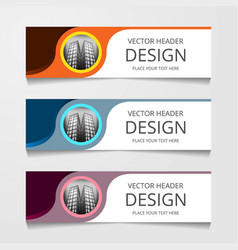 Abstract web banner design background or header vector
