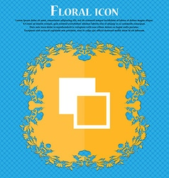Active color toolbar Floral flat design on a blue vector image