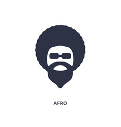Afro icon on white background simple element from vector
