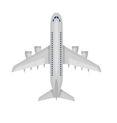 airplane plane airliner icon isolated on white vector image