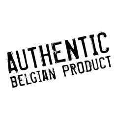 Authentic belgian product stamp vector image