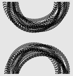 Background with car tires vector