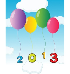 Balloons for the year 2013 vector image
