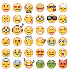 Big set 36 emojis emoticons vector
