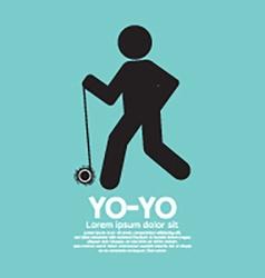 Black Graphic Symbol Yoyo Player vector image