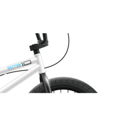 bmx bicycle - front area close-up vector image