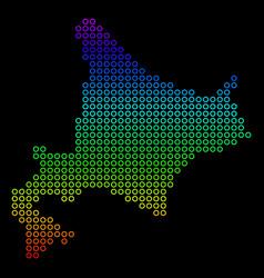 Bright hokkaido island map vector