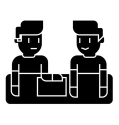 business conversation icon vector image