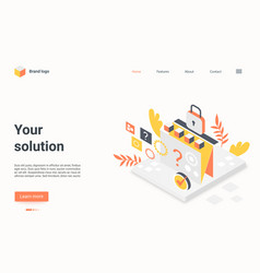 Business solution landing page search vector