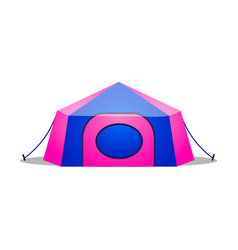 Camping tent raster in flat cartoon vector