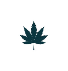 cannabis icon simple drug vector image