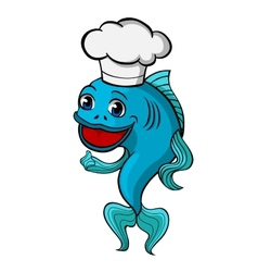 chef fish vector image