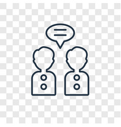 collaboration concept linear icon isolated on vector image