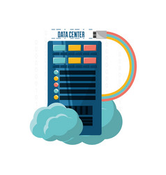 Connecting information with data center and cloud vector