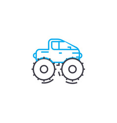 cross country vehicle thin line stroke icon vector image