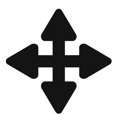 Cursor displacement element icon simple black vector