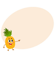 cute and funny pineapple character mascot vector image